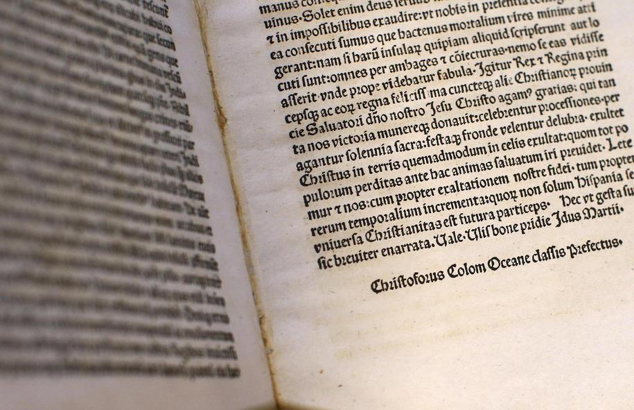 Krzysztof Kolumb napisał list po powrocie z wyprawy do Ameryki do króla Ferdynanda Aragońskiego i królowej Izabeli /TONY GENTILE /PAP/EPA