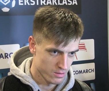 Krzysztof Piątek po derbach Cracovia - Wisła (1-4). Wideo