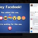 Krzyż jako jedna z reakcji na Facebooku?