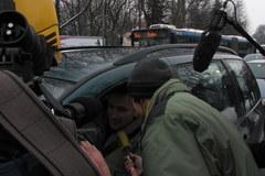 Ks. Jacek Stryczek posypał głowy kierowców popiołem