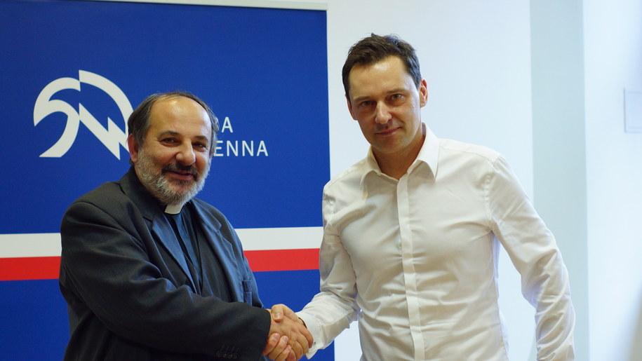 Ks. Tadeusz Isakowicz-Zaleski i Krzysztof Ziemiec /Michał Dukaczewski /RMF FM