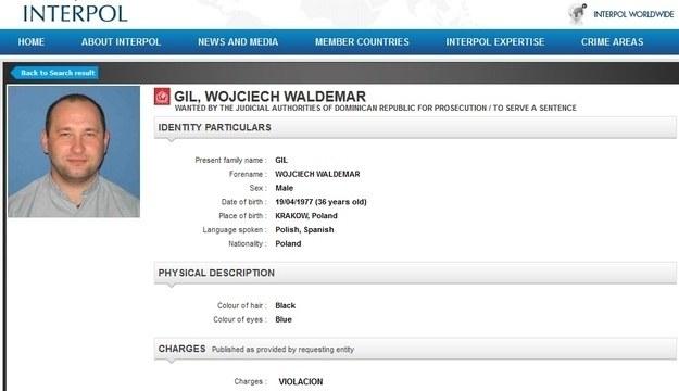 Ks. Wojciech Gil jest poszukiwany przez Interpol, fot. Interpol /