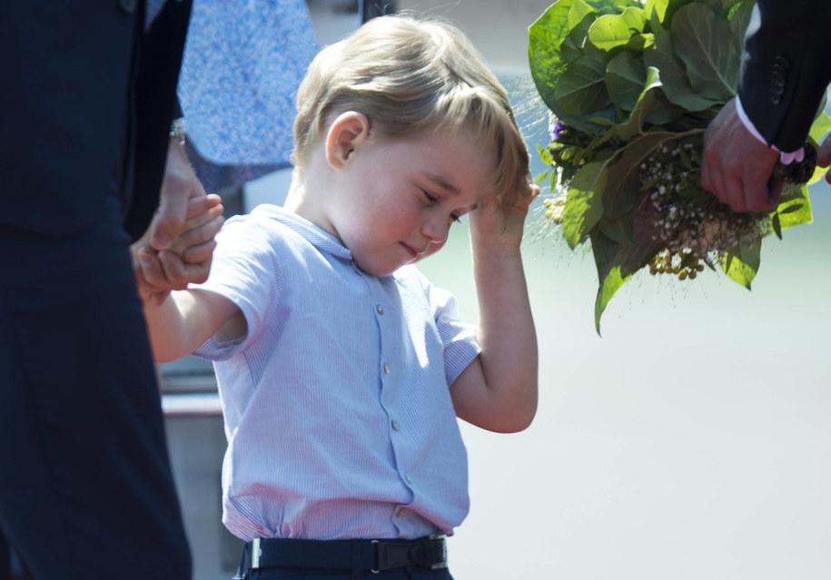 Książę George ma już cztery lata i we wrześniu pójdzie do przedszkola /Steffi Loos/AFP Pool/DPA /PAP