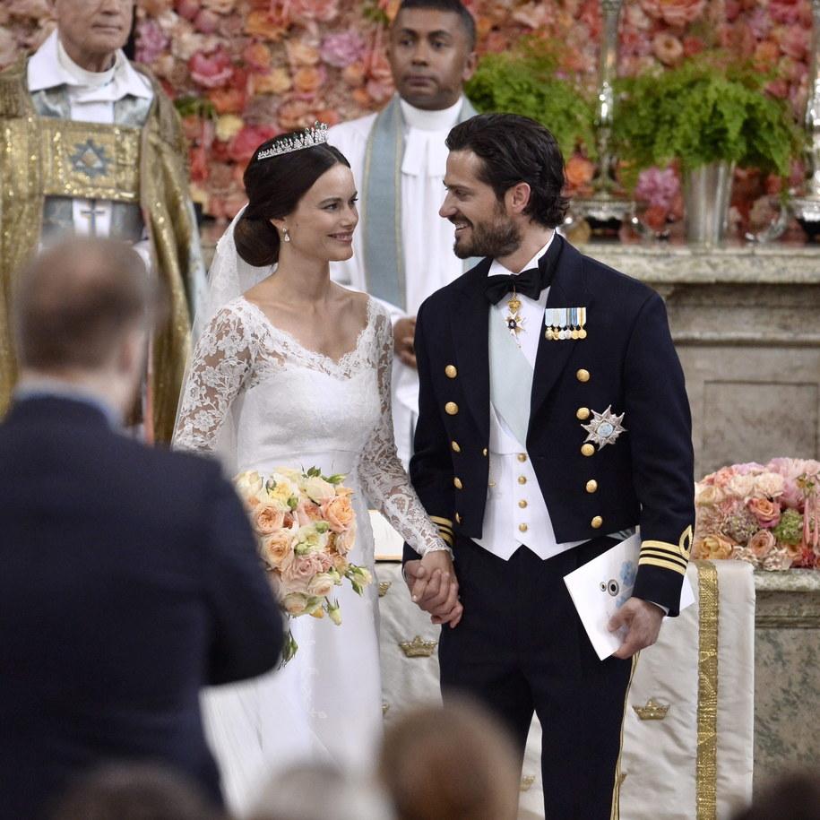 Książę Karol Filip i jego żona Sophia /Claudio Bresciani/TT  /PAP/EPA