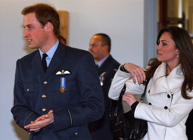 Książę William i Kate Middleton /AFP