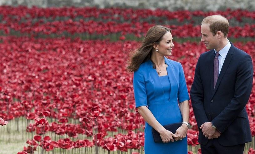 """Książę William i księżna Kate """"zasadzili"""" szkarłatne maki /PAP/EPA"""