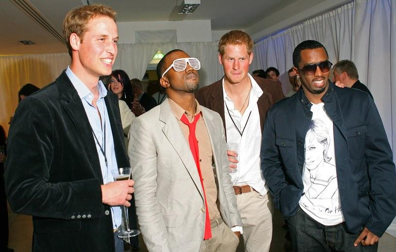 Książe William, Kanye West, książę Harry i Diddy pozują do zdjęcia /WPA POOL/AFP PHOTO/CARL DE SOUZA /East News