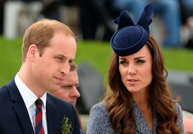 Książę William z żoną /AFP