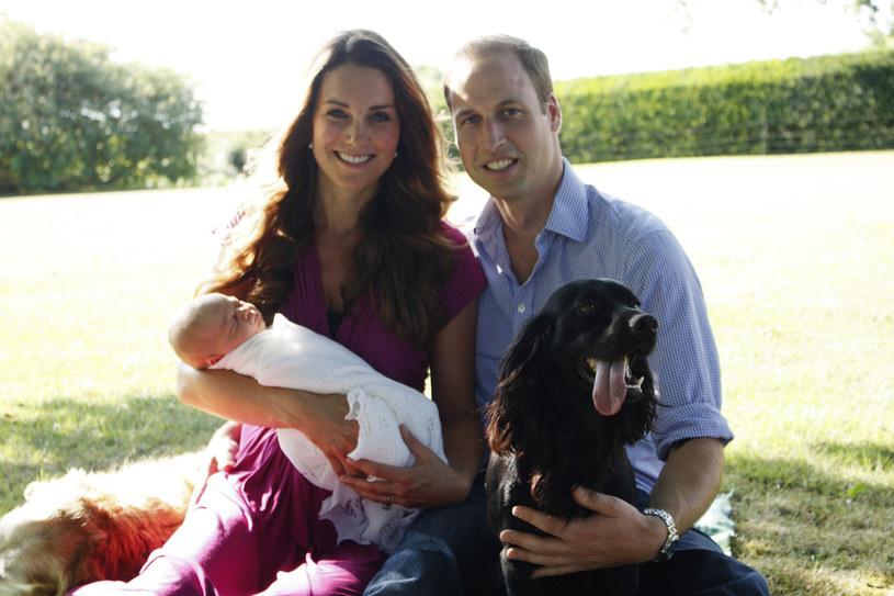 Książęca rodzina w komplecie. /fot. Michael Middleton /AFP