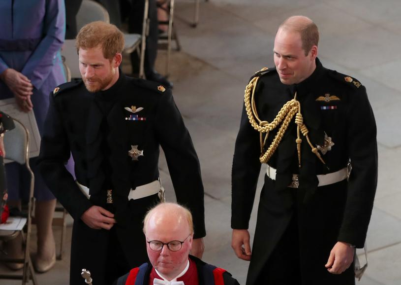 Książęta Harry i William. William został drużbą pana młodego /AFP