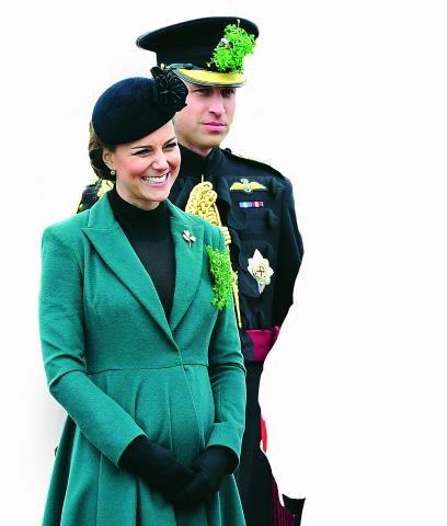 Księżna Catherine i książę William 17 marca w Londynie, podczas parady z okazji dnia św. Patryka. /Flash Press Media