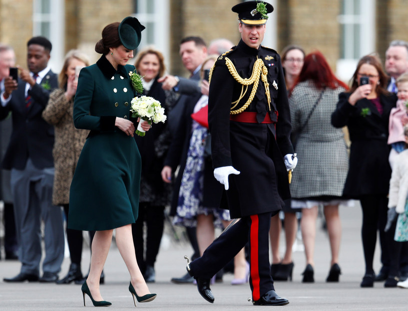 Księżna Kate i książę William, zdjęcie wykonane 17 marca br. /REUTERS/Peter Nicholls /Agencja FORUM