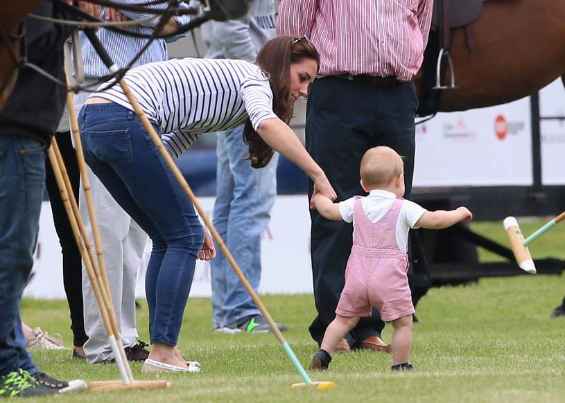 Księżna Kate z synem /Getty Images