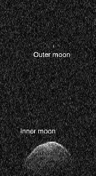 Księżyce asteroidy 3122 Florence /NASA