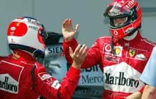 Kto miał wygrać - Barrichello czy Schumacher? /poboczem.pl