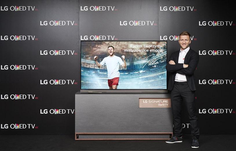 Kuba Błaszczykowski został ambasadorem nowych telewizorów LG /materiały prasowe