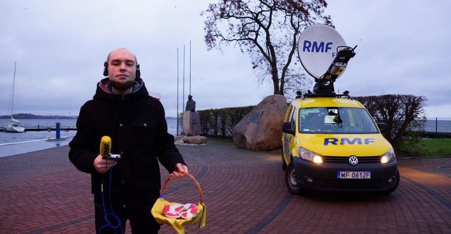 Kuba Kaługa reporter RMF FM w drodze do Sulejówka /Michał Dukaczewski /RMF FM