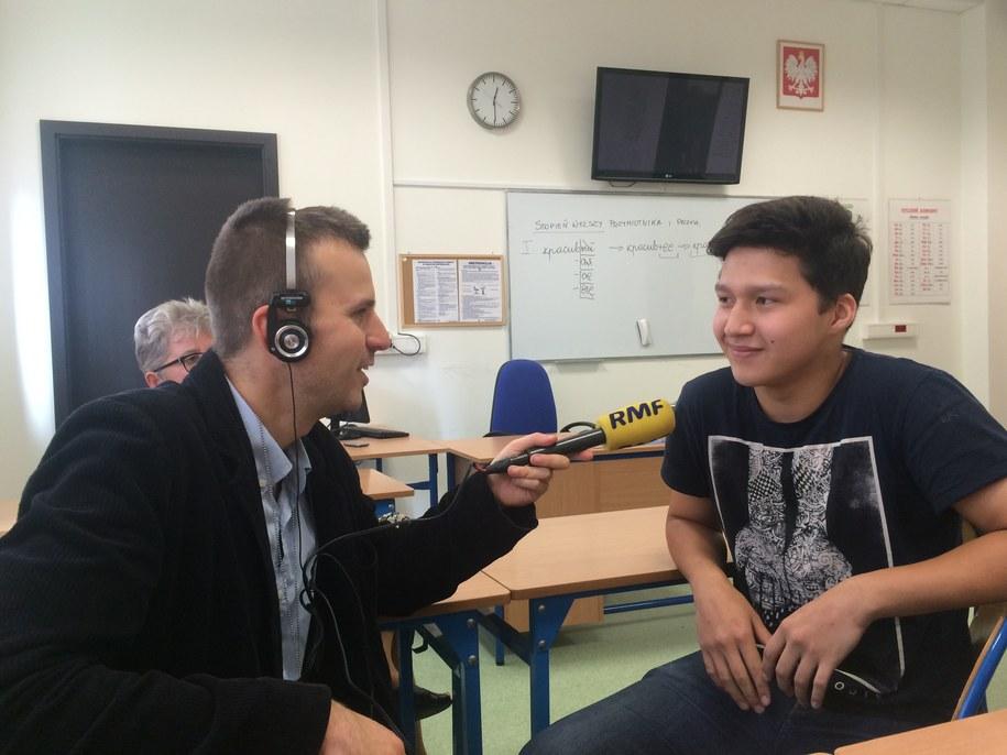Kuban z Kirgistanu w rozmowie z reporterem RMF FM Michałem Dobrołowiczem /Michał Dobrołowicz /RMF FM