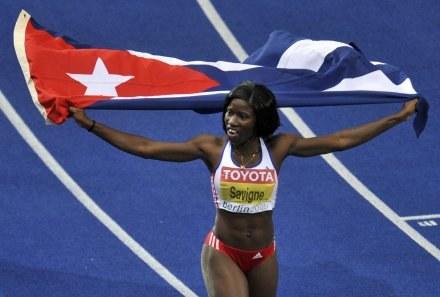Kubanka Yargelis Savigne została mistrzynią świata w trójskoku. /AFP