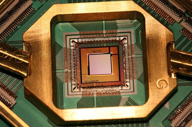 Kubitowy chip komputera kwantowego / inf. prasowa /&nbsp