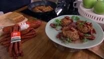 Kuchnia kurpiowska. Rejbak z kabanosami, kapusta z kaszą i grzybami, kotleciki gryczane