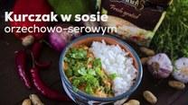 Kurczak w sosie orzechowo-serowym - szybki przepis