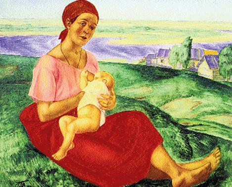 Kuźma Pietrow-Wodkin, Matka, 1913 r. /Encyklopedia Internautica