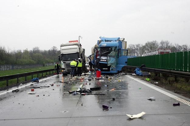 Kwietniowy wypadek na A4 - zdj. archiwalne /GAZETA WROCLAWSKA PIOTR KRZYZANOWSKI/POLSKA PRESS GRUPA /East News