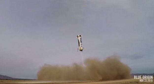 Lądowanie rakiety Blue Origin /materiały prasowe