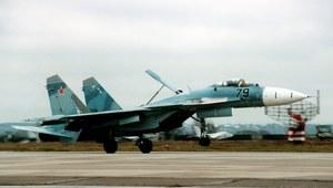 """Lądowanie Su-27 na lotniskowcu """"Kuzniecow"""""""