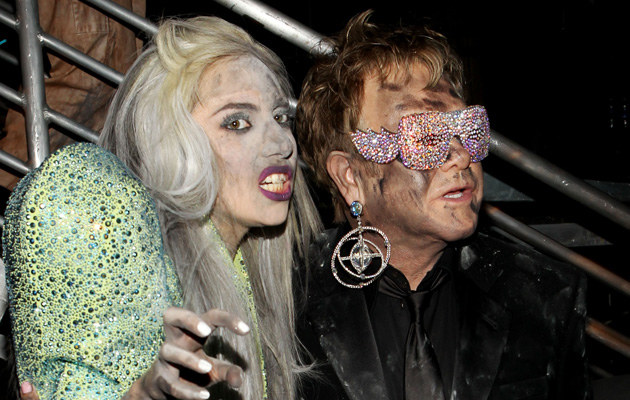 Lady Gaga i Elton John, fot.Christopher Polk   /Getty Images/Flash Press Media