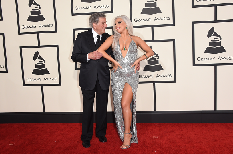 Lady Gaga i Tony Bennett podczas gali Grammy w 2015 roku / Jason Merritt /Getty Images