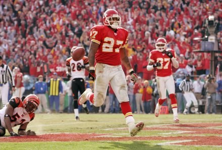 Larry Johnson z Kansas City Chiefs - jeden z najlepszych running backów w NFL /AFP