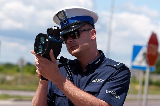Laserowy miernik prędkości / Fot: Marek Maliszewski /Reporter