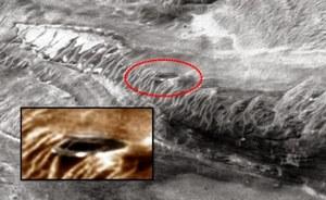 Latający spodek na zdjęciu z Marsa?
