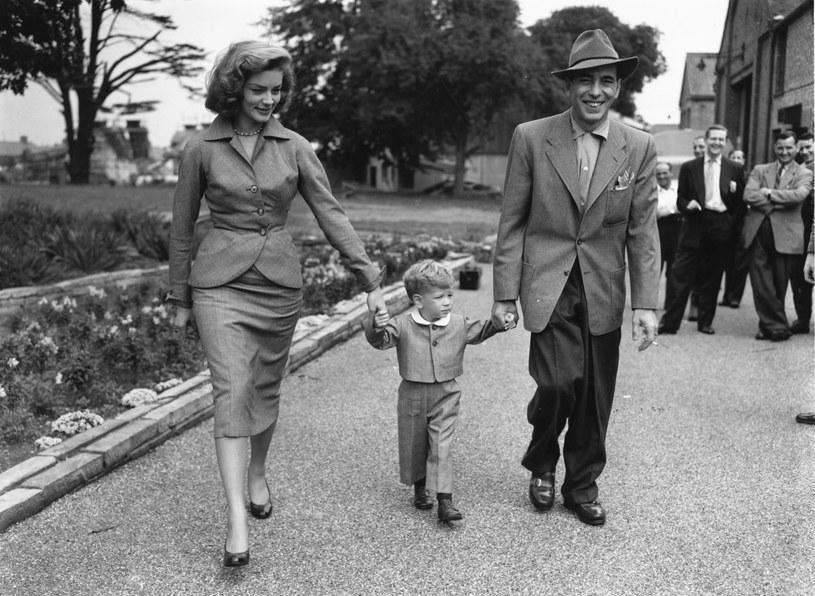 Lauren Bacall i Humphrey Bogart z synkiem Steve'em /Central Press /Getty Images