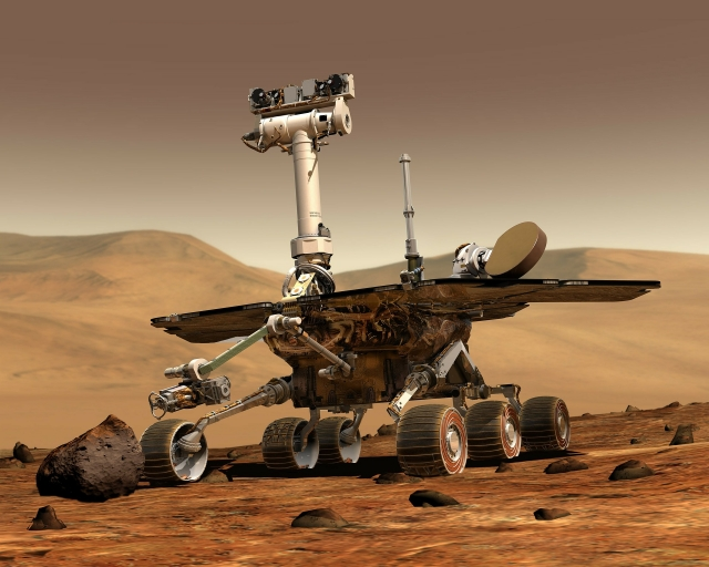 Łazik Curiosity odnalazł maleńkie, ciemne nierówności na marsjańskiej skale /NASA