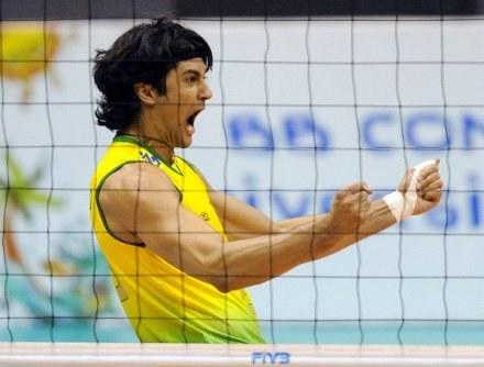 Leandro Vissotto zdobył 29 punktów dla Brazylii /AFP
