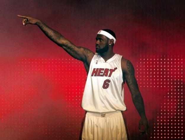 LeBron James jest teraz zawodnikiem Miami Heat /AFP