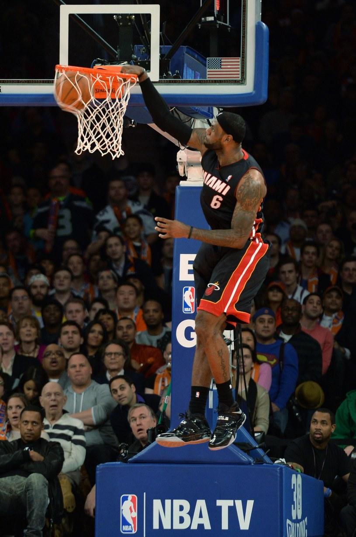 LeBron James - lider Miami Heat /AFP