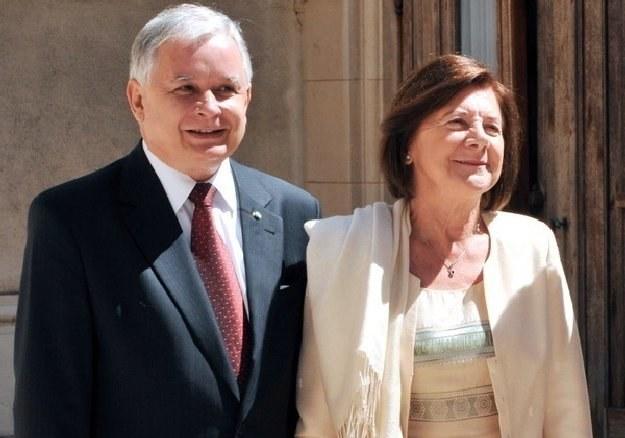 Lech Kaczyński i jego żona Maria zginęli w katastrofie samolotu /AFP