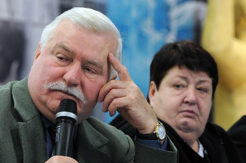 Lech Wałęsa i Henryka Krzywonos, 30-lecie powstania NSZZ Solidarność, 16.10.2010 /Wojciech Stróżyk /Reporter