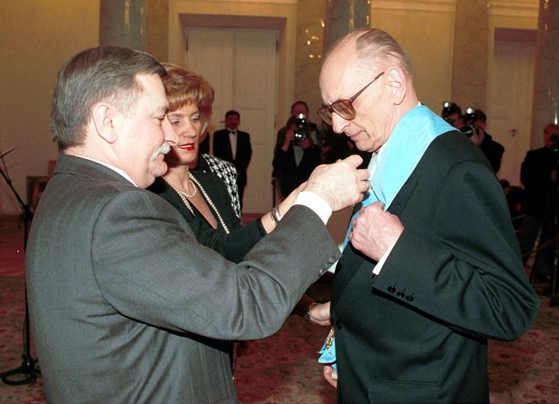 Lech Wałęsa i Władysław Bartoszewski /Maciej B. Brzozowski  /PAP