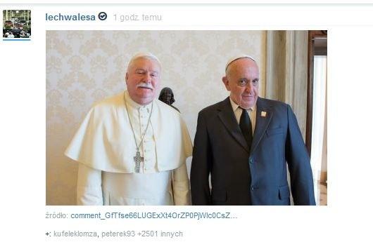 Lech Wałęsa jako papież /Wykop.pl /