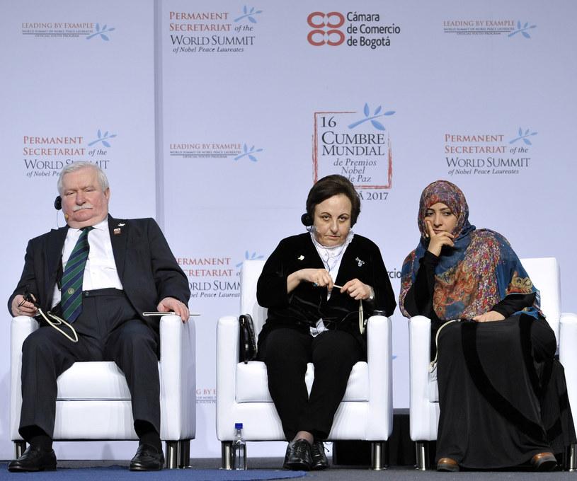 Lech Wałęsa, Szirin Ebadi i Tawakkul Karman /AFP