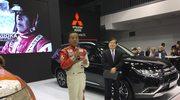 Legenda Dakaru na stoisku Mitsubishi w Poznaniu