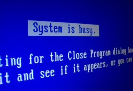 """Legendardy """"Niebieski ekran"""" - skutek uboczny poprawki Windows XP   fot. Crystal Woroniuk /stock.xchng"""