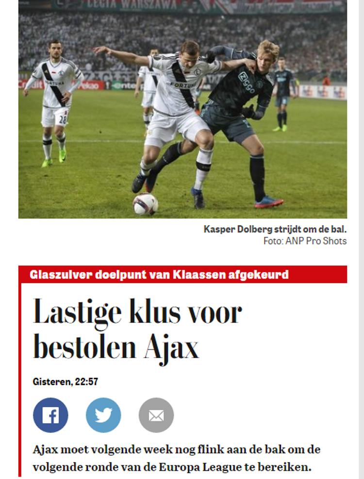 Legia - Ajax /prinstcreen /