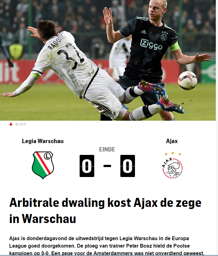 Legia - Ajax /print screen /