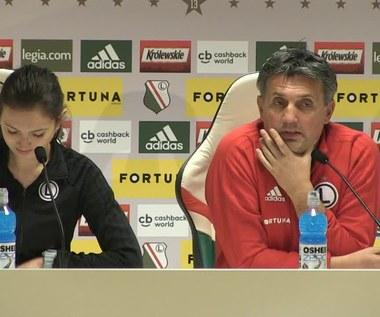 Legia - Bruk-Bet Termalica. Romeo Jozak przed meczem. Wideo